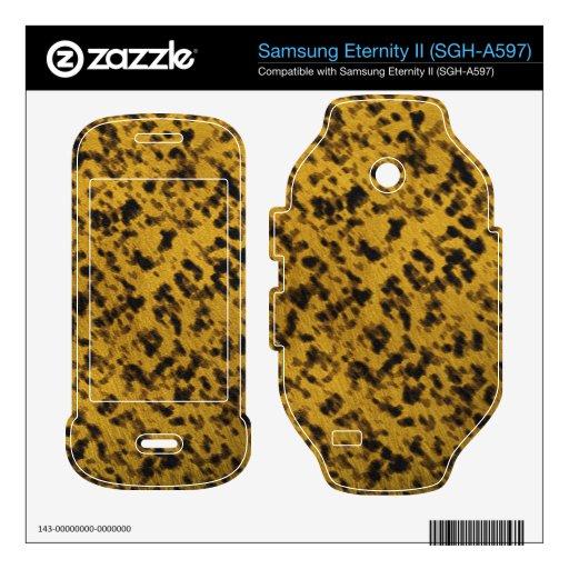 Leopard Print Samsung Eternity II Skin