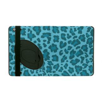 Leopard Print Shades of Blue iPad Folio Case