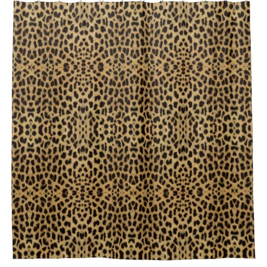 Leopard Print Shower Curtain Zazzle Com