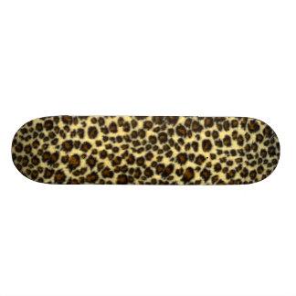 Leopard Print Custom Skateboard