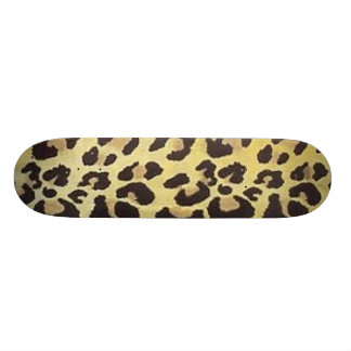 Leopard Print Skateboard