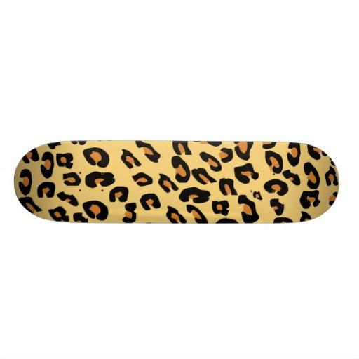 leopard print skateboard deck