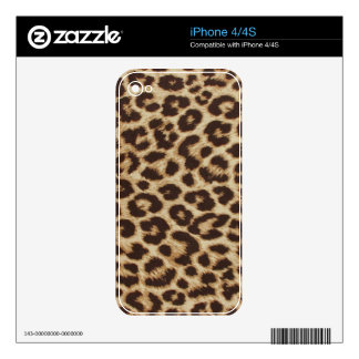 Leopard Print Skin Decal For The iPhone 4S