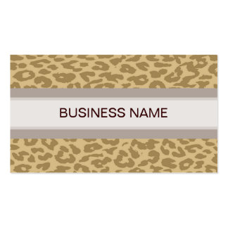Leopard Print Skin and Plain Color 11 Double-Sided Standard Business Cards (Pack Of 100)