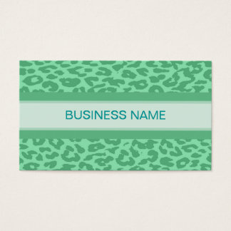Leopard Print Skin and Plain Color 12 Business Card