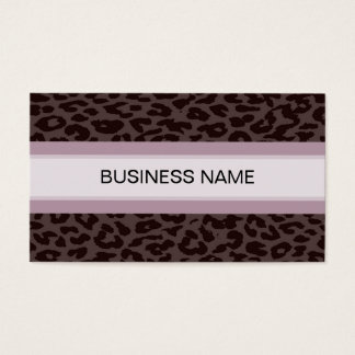 Leopard Print Skin and Plain Color 6 Business Card