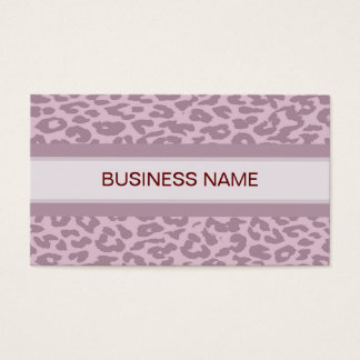 Leopard Print Skin and Plain Color 8 Business Card