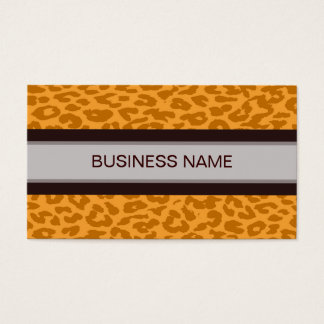 Leopard Print Skin and Plain Color 9 Business Card