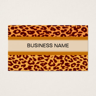 Leopard Print Skin and Plain Color Business Card
