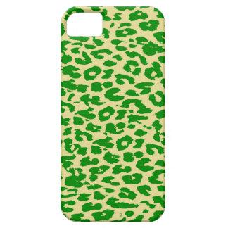 Leopard Print Skin (Green, Lime, Cornsilk) iPhone SE/5/5s Case
