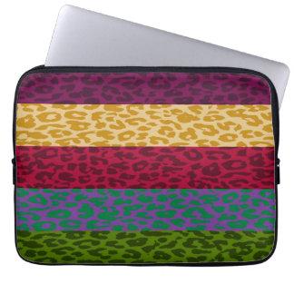 Leopard Print Skin Stripe Pattern 3 Computer Sleeve