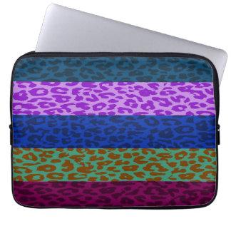 Leopard Print Skin Stripe Pattern 4 Computer Sleeve