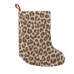 Leopard Print Small Christmas Stocking
