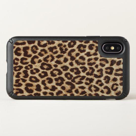 Leopard Print Speck Presidio Apple iPhone X Case