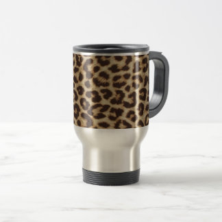 Leopard Print Stainless Steel Travel Mug