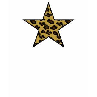 Leopard Print Star Edune Live Tshirt shirt