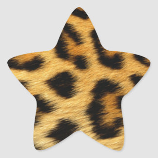 Leopard Print Star Sticker