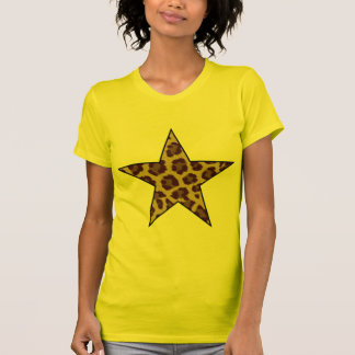 leopard print star tshirt