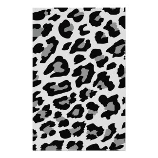 leopard print stationery