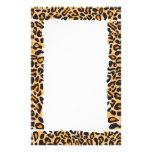 Leopard Print Stationery Design