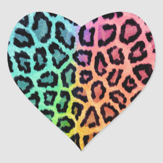 Leopard Print Heart Sticker