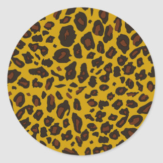 Leopard Print Round Sticker