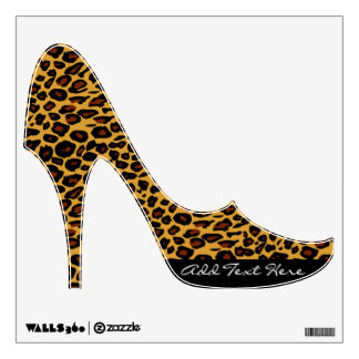 Leopard Print Stiletto Wall Stickers