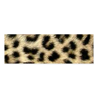 Leopard Print Tag Business Cards