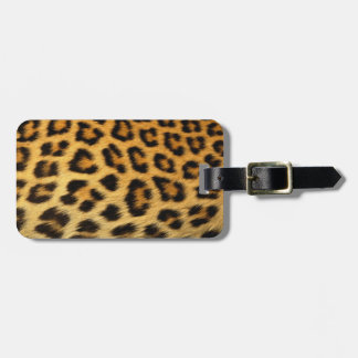 Leopard print tag for bags