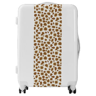 Leopard Print - Taupe Tan and White Luggage