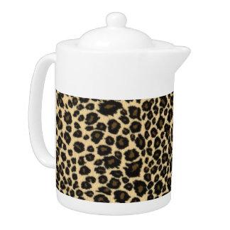 Leopard Print Teapot