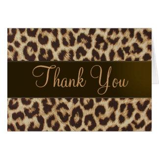 Leopard Print Thank You Card