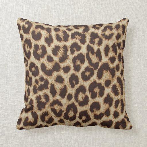 Animal Print Throw Pillows And Blankets : Leopard Print Throw Pillow Zazzle