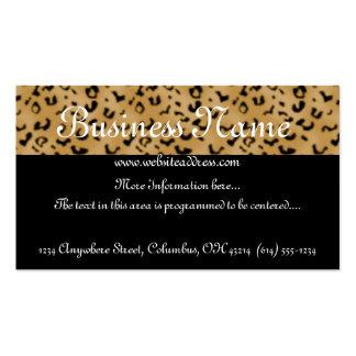 Leopard Print Topper Business Card
