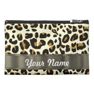 leopard print travel accessory bags