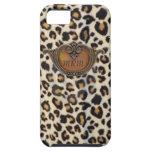 Leopard Print Vintage Deco iPhone 5 Case