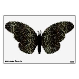 Leopard Print Wall Decal Black
