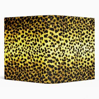 Leopard Print Wallpaper 3 Ring Binders