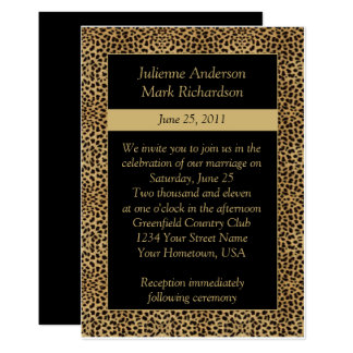 Leopard Print Wedding Invitation