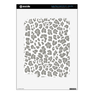 Leopard Print White and Gray Decal For iPad 3
