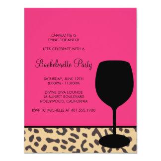 leopard print wine bachelorette card