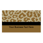 leopard print with black stripe business card templates