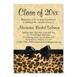 "Leopard Print with Bow Graduation/Party Invitation 5"" X 7"" Invitation Card"
