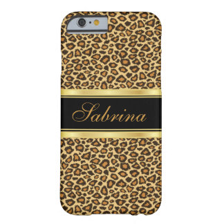 Leopard Print with Gold Accents Barely There iPhone 6 Case