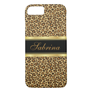 Leopard Print with Gold Accents iPhone 8/7 Case