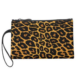 Leopard Print with Gradient Gold Wristlet Purse