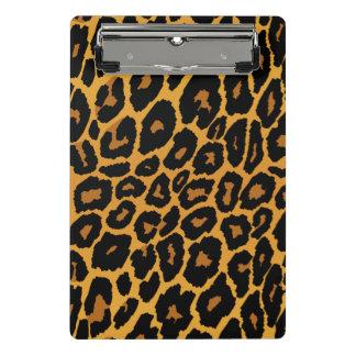 Leopard Print with Gradient Gold Mini Clipboard