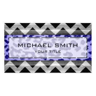 Leopard print | Wood aztec chevron #2 Business Cards