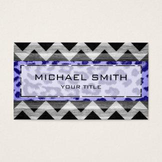 Leopard print | Wood aztec chevron #2 Business Card