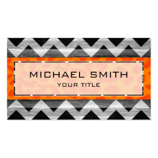 Leopard print | Wood aztec chevron Business Card Templates